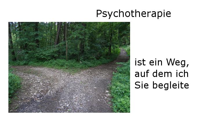 Bild: Psychotherapie ist ein Weg, auf dem ich Sie begleite
